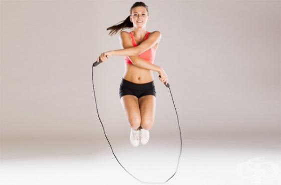 Упражнения за отслабване – скачане на въже